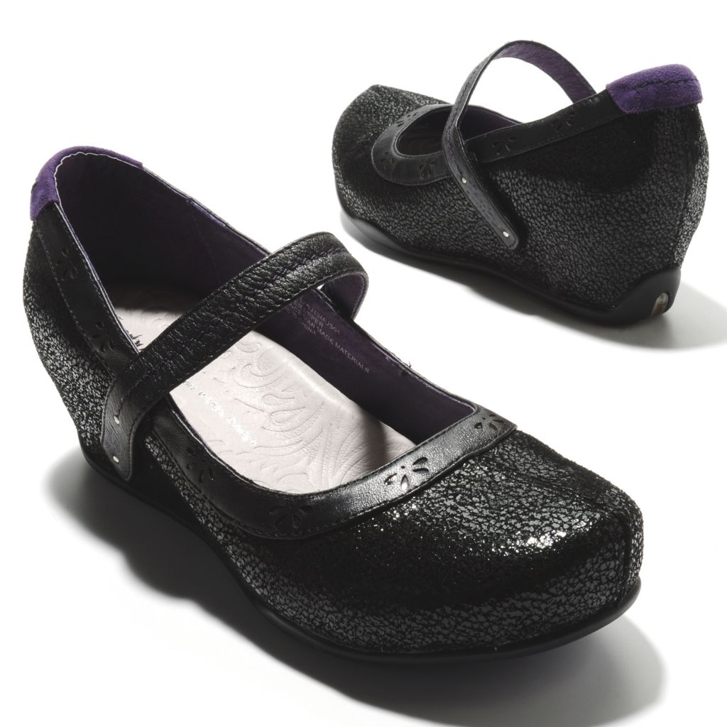713-771 - Jambu Crackled Suede Leather Memory Foam Hidden Wedge Shoes