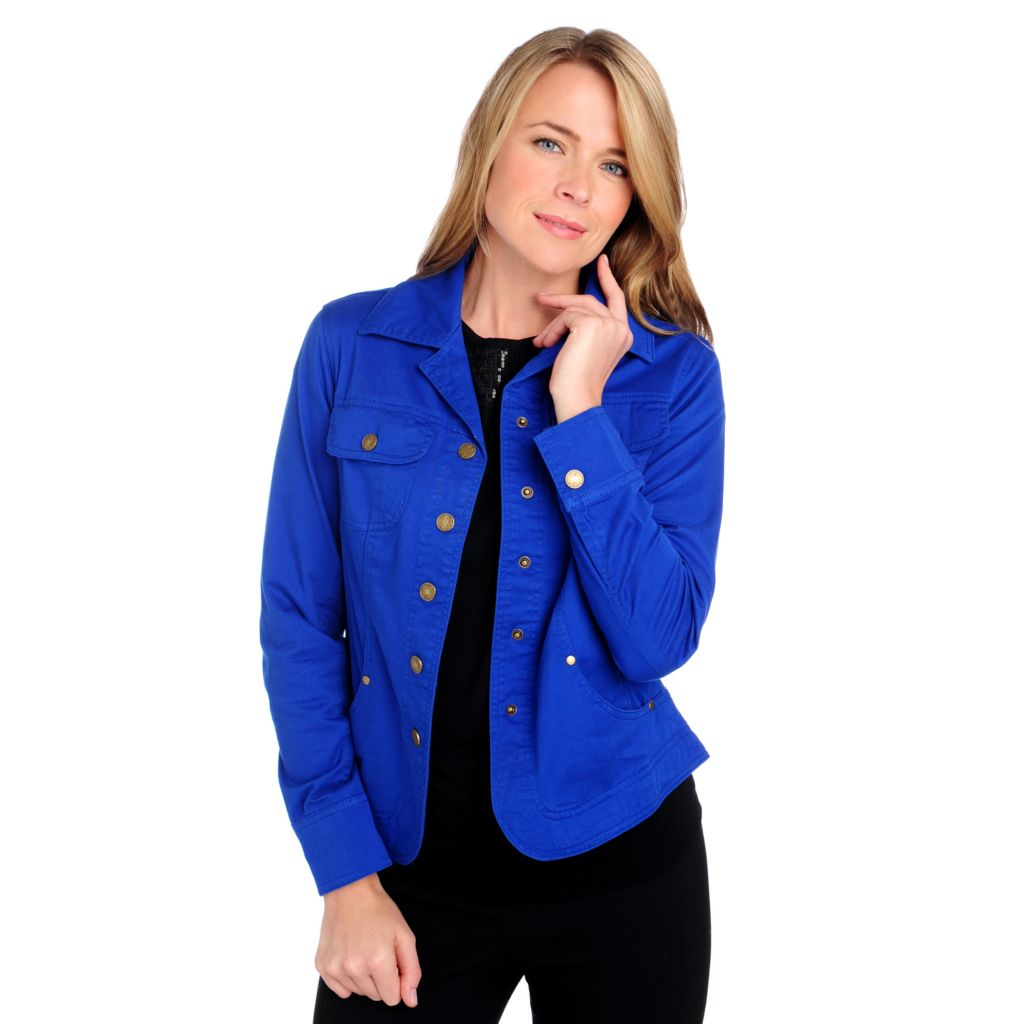 713-779 - OSO Casuals Stretch Twill Long Sleeved Curved Hem Jacket