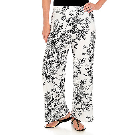 713-781 - Kate & Mallory Stretch Knit Elastic Waistband Wide Leg Palazzo Pants