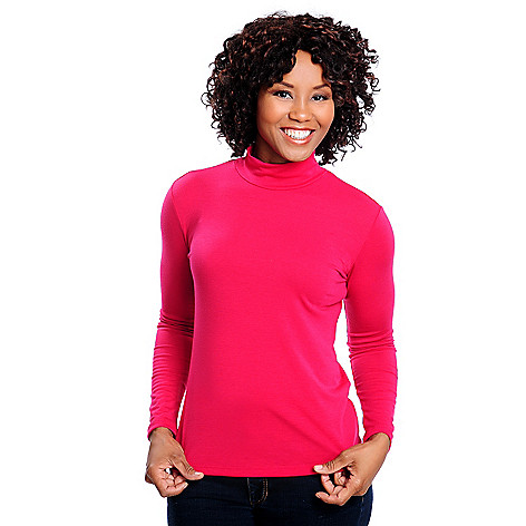 713-873 - OSO Casuals Stretch Knit Long Sleeved Mock Turtleneck Shirt