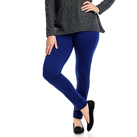 713-915 - Kate & Mallory Ponte Knit Two-Pocket Ankle Length Pull-on Leggings