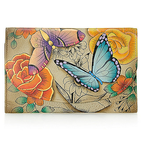 713-939 - Anuschka Hand-Painted Leather Tri-Fold Wallet