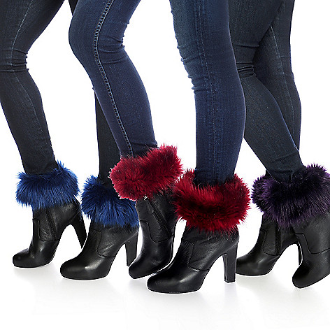 713-954 - Donna Salyers' Fabulous-Furs Set of Three Faux Fur Boot Toppers