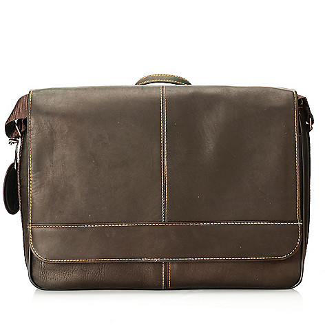 713-956 - Wilsons Leather Men's Large Flap Over Messenger Bag