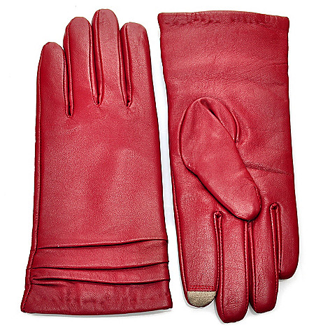 714-006 - Men's or Women's Lamb Leather Cashmere-Lined Texting Tip Gloves