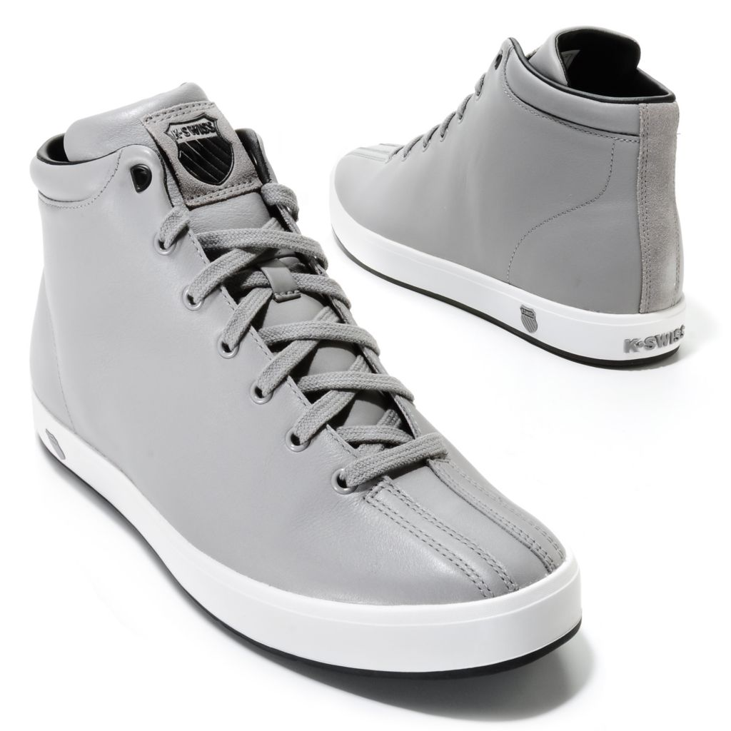 714-047 - K-Swiss® Men's Leather Clean Classic High Top Sneakers