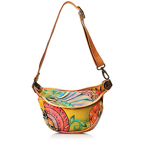 714-054 - Anuschka Hand-Painted Leather Small Convertible Waistor Cross Body Bag