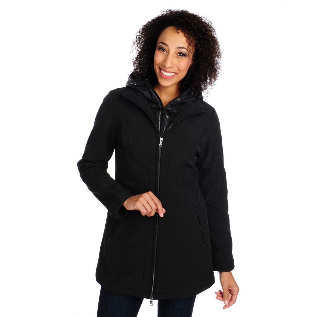 714-055 - Mo-Ka Softshell Woven Long Sleeved Zip-out Hood Fully Lined Jacket