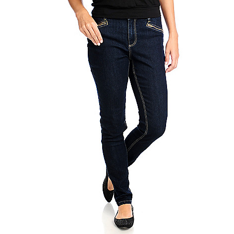 714-067 - Love, Carson by Carson Kressley Stretch Twill Zip Pocket Slim Leg Jeans