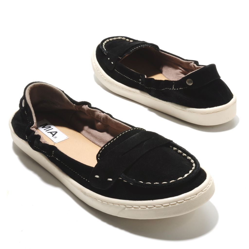 714-070 - MIA Leather Suede Slip-on Loafers