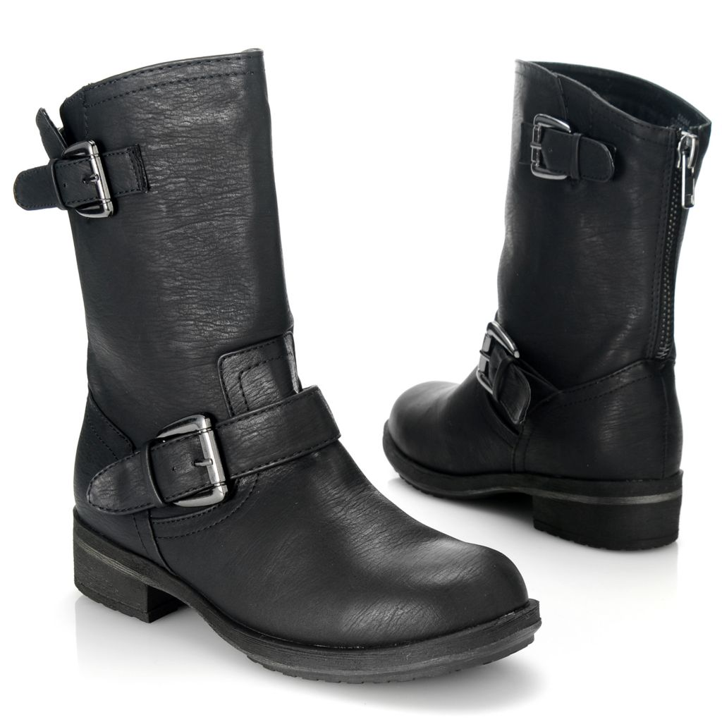 714-076 - MIA Buckle Detailed Engineer-Inspired Back Zip Boots