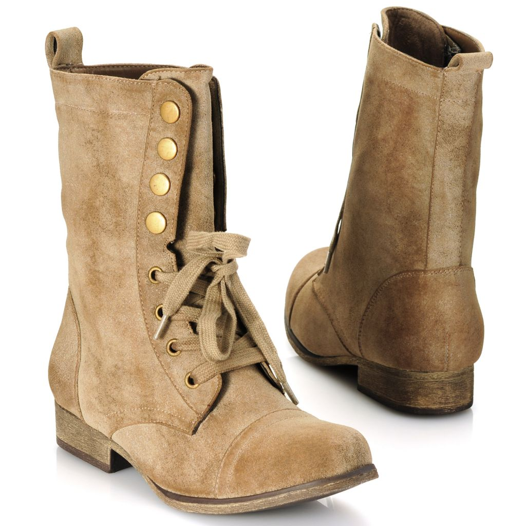714-088 - MIA Lace-up & Snap Closure Mid-Height Boots