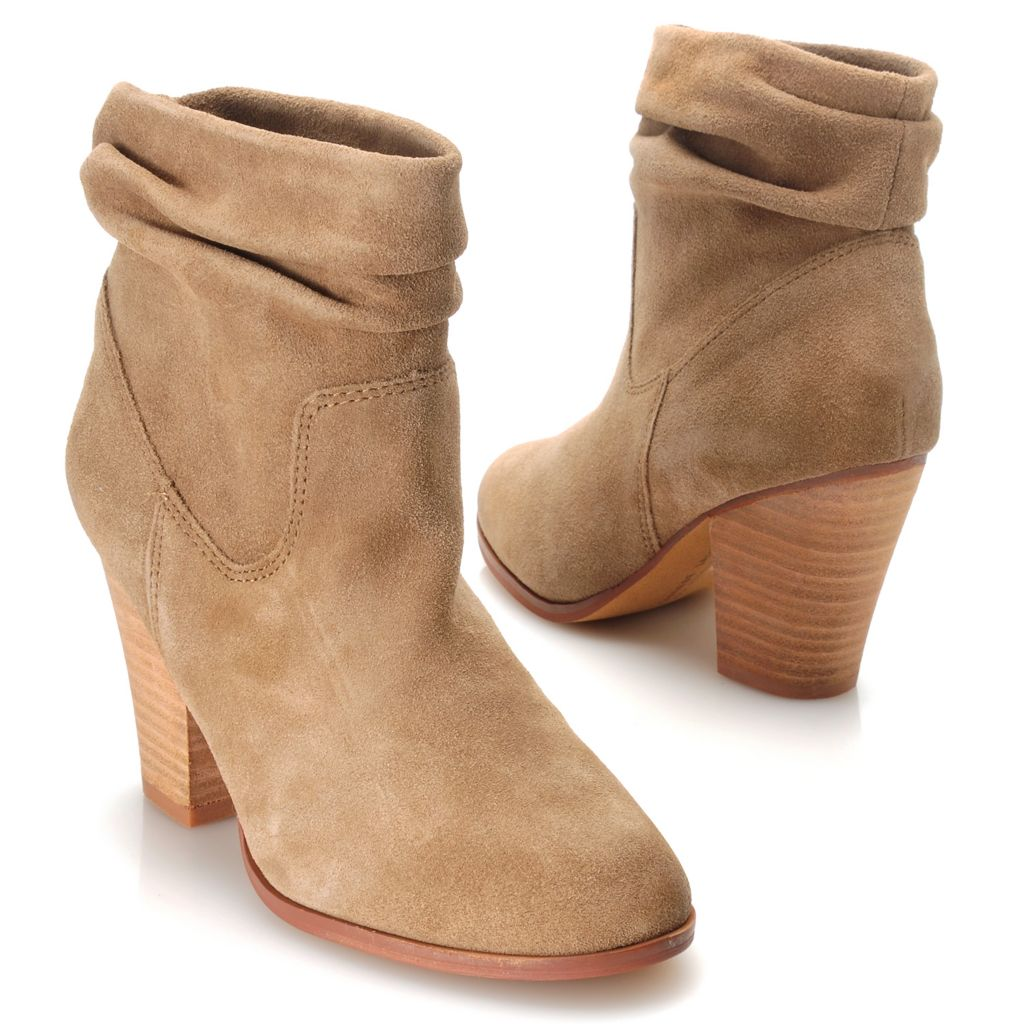 714-107 - Chinese Laundry Suede Leather Slouchy Ankle Boots