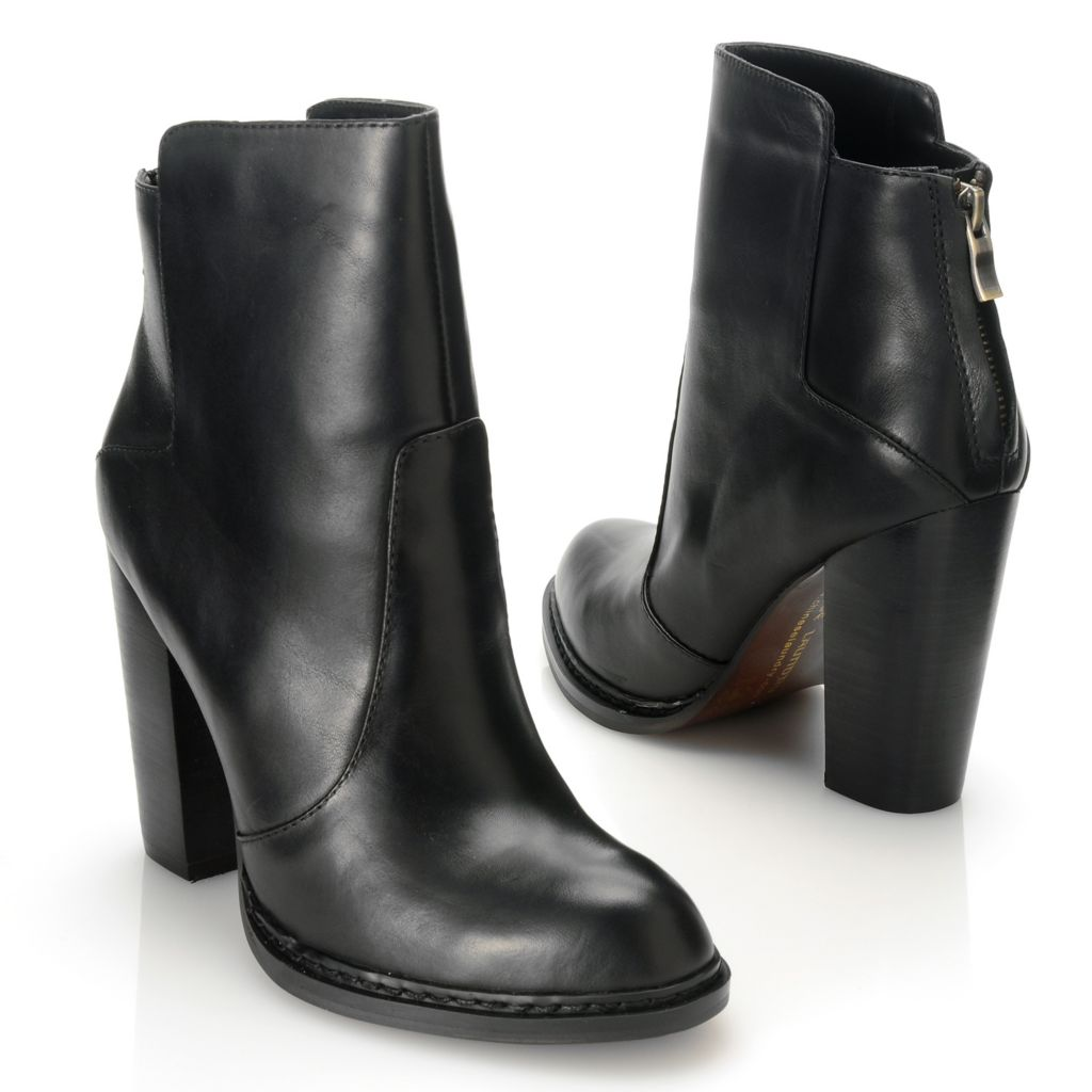 714-110 - Chinese Laundry Leather Back Zip Ankle Boots