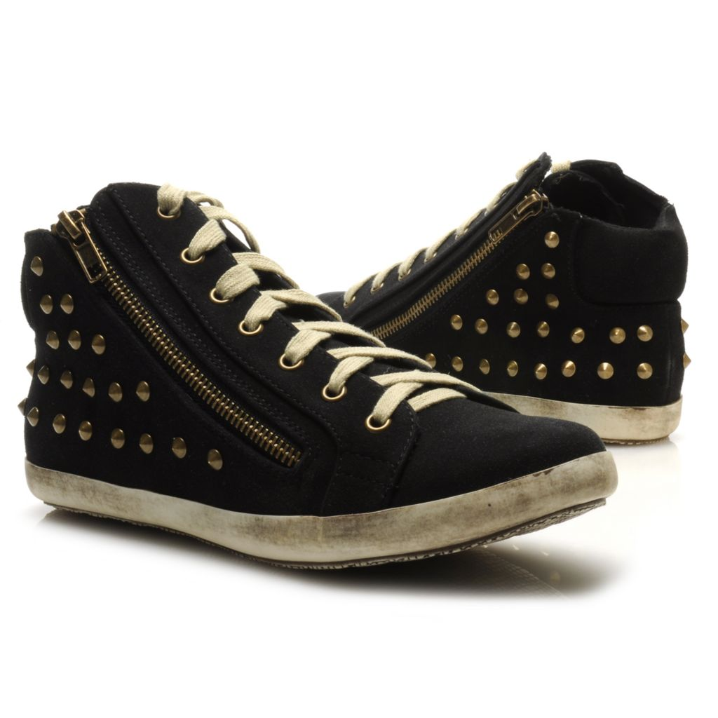714-119 - Michael Antonio® Lace-up Zipper Detailed Studded Sneakers