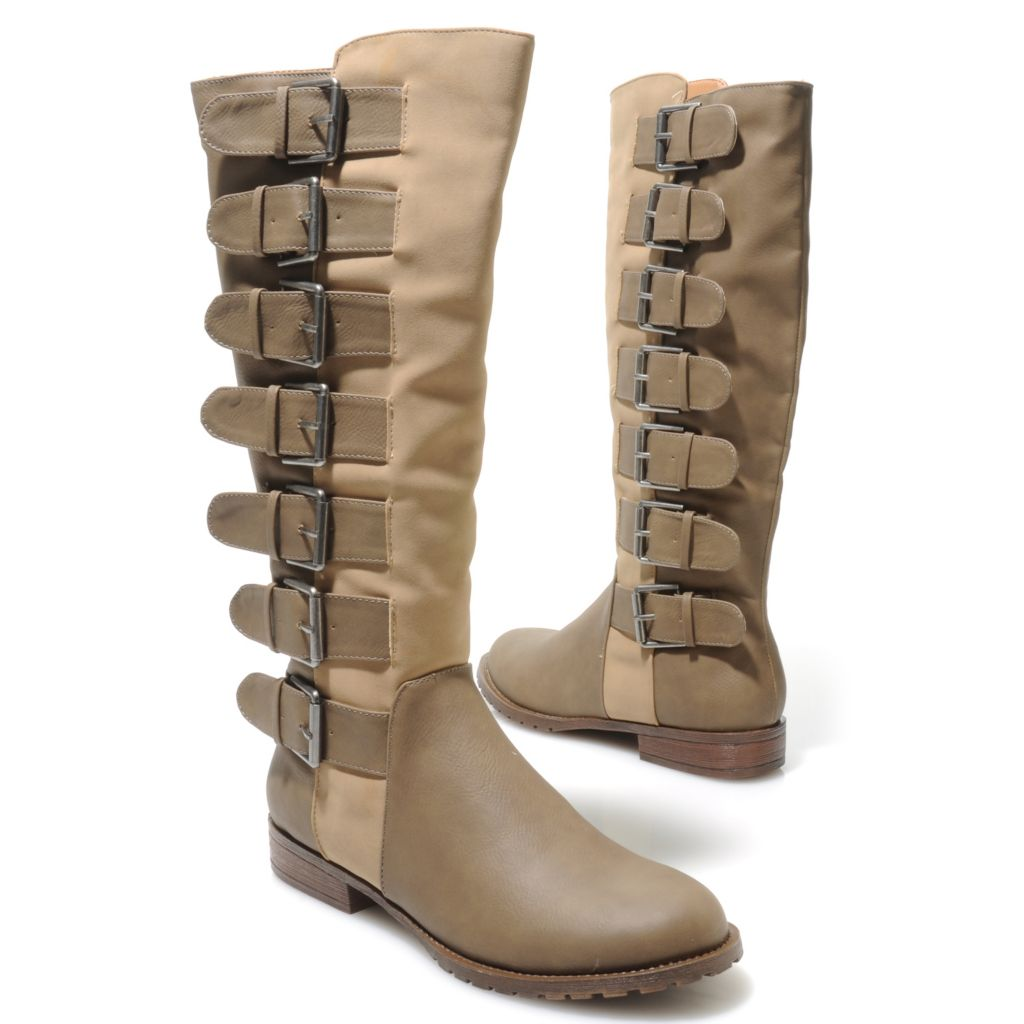 714-122 - Michael Antonio® Buckle Detailed Side Zip Tall Boots