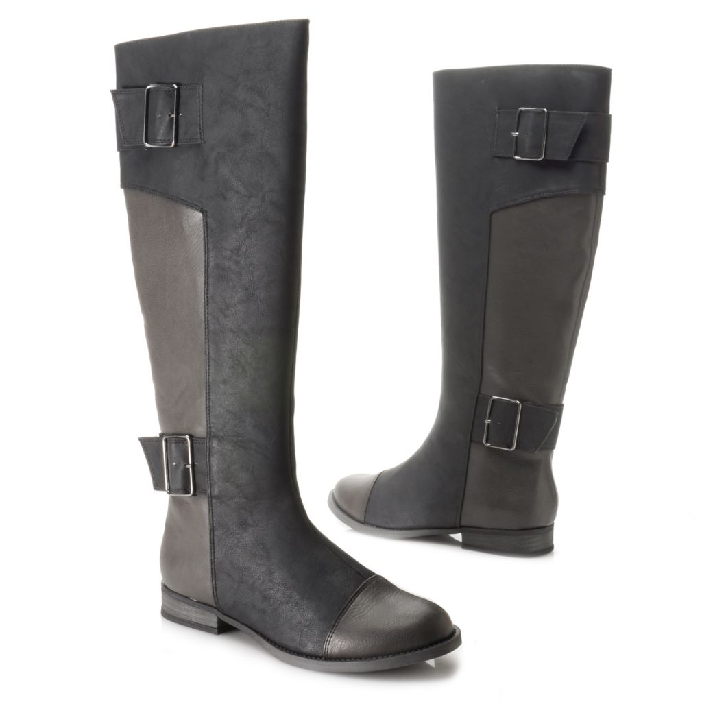 714-125 - Michael Antonio® Buckle Detailed Tall Riding Boots