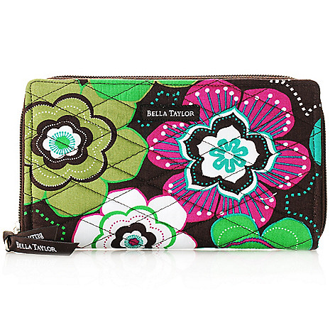 714-184 - Bella Taylor Quilted Cotton Zip Around Wallet