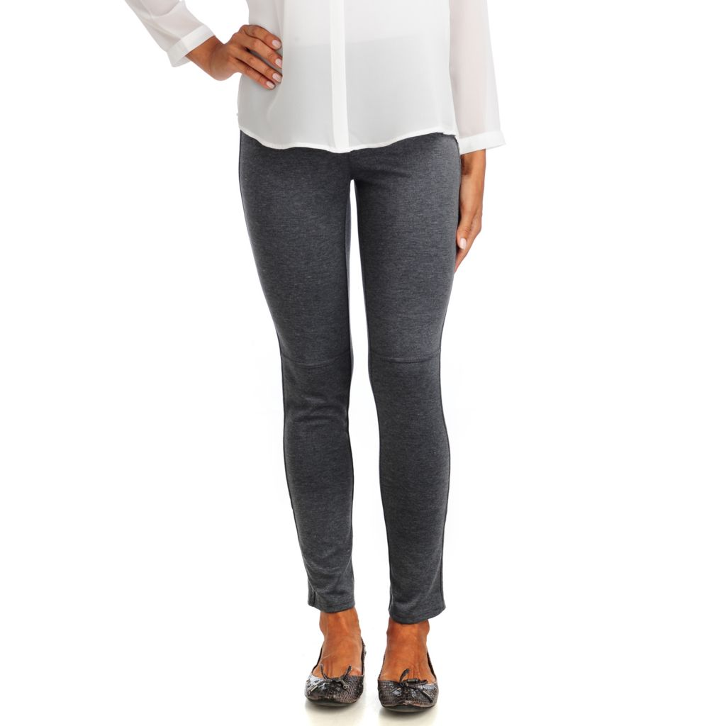 714-249 - Kate & Mallory Lightweight Ponte French Seam Zip Ankle Leggings