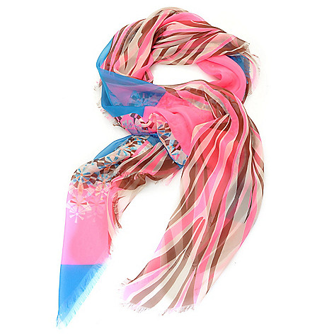 714-268 - Collection XIIX Multi Color Mixed Digital Print 48'' Square Scarf