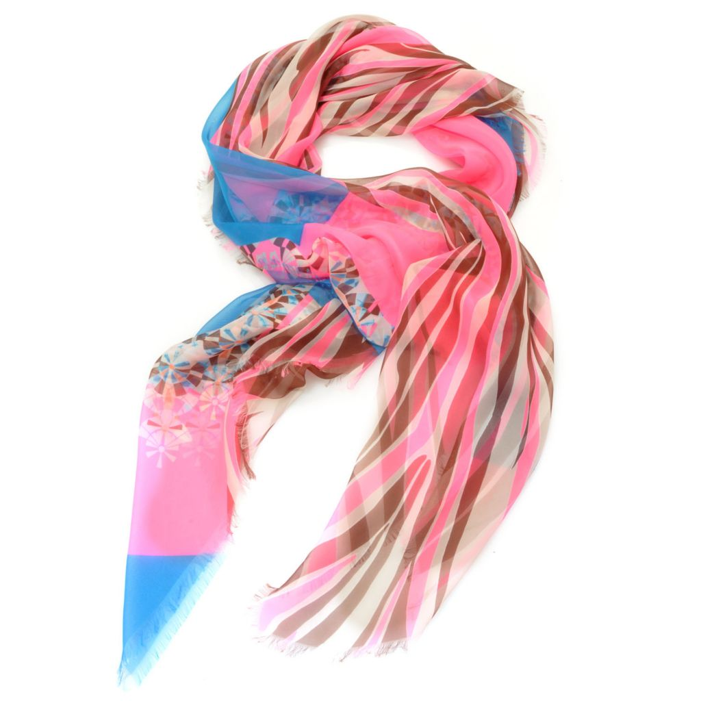 "714-268 - Collection XIIX Multi Color Mixed Digital Print 48"" Square Scarf"