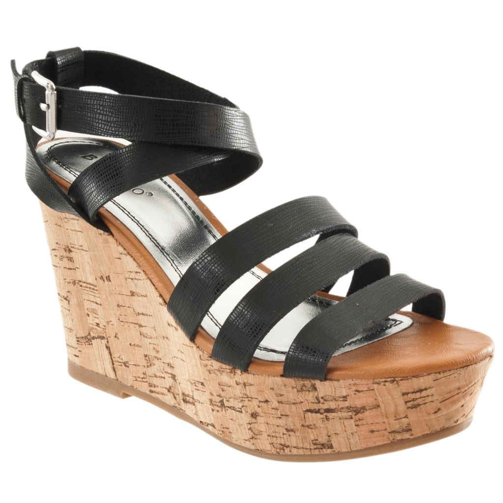 714-290 - Bamboo by Riverberry Women's 'Pippa' Platform Wedge Sandals