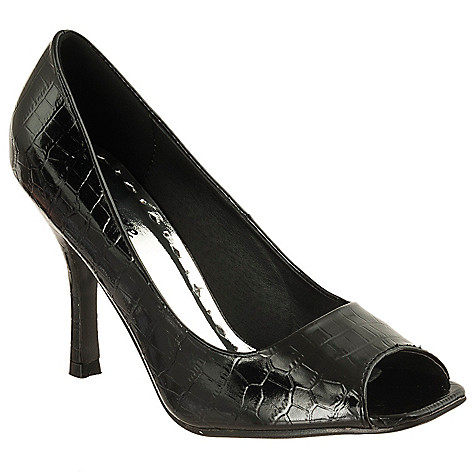 714-302 - Styluxe by Riverberry Women's 'Shelly' Croco Print Peep Toe Stilettos