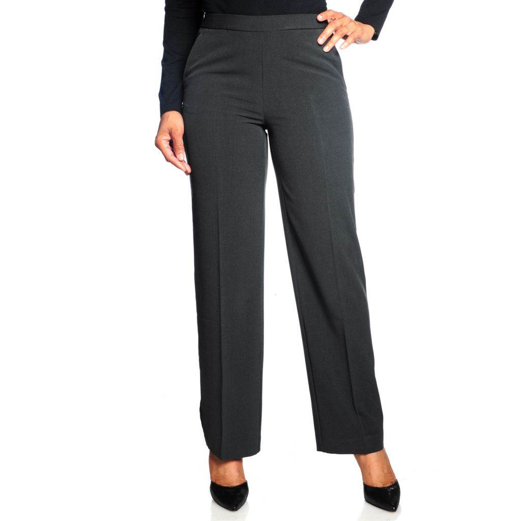 714-317 - Focus 2000 Stretch Woven Slenderizing Panel Pull-on Trouser Pants