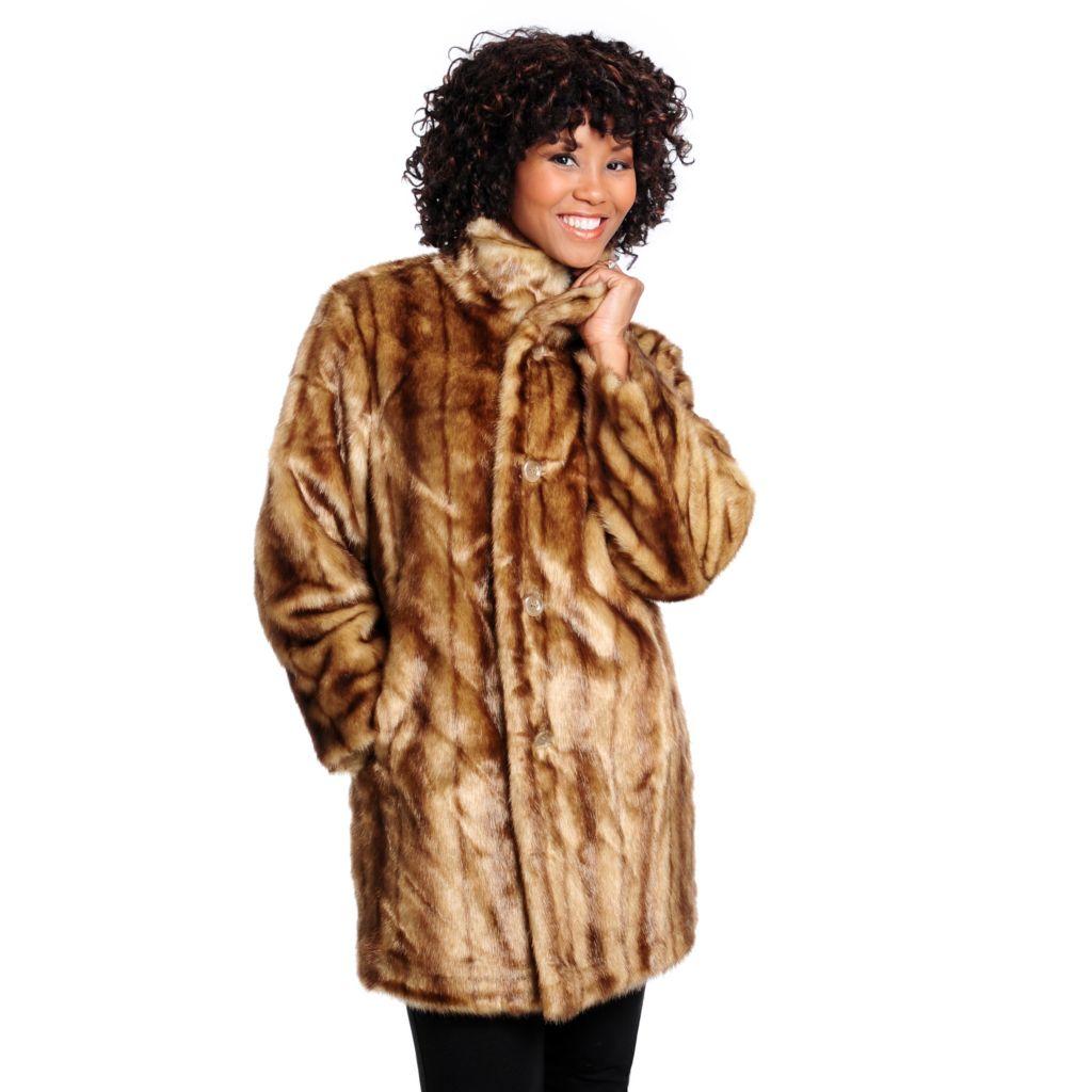 714-334 - Donna Salyers' Fabulous-Furs Faux Fur Reversible Storm Jacket