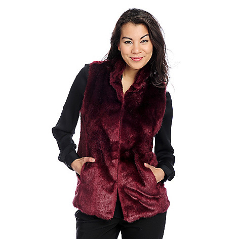 714-352 - Donna Salyers' Fabulous-Furs Faux Fur Signature Hook Vest