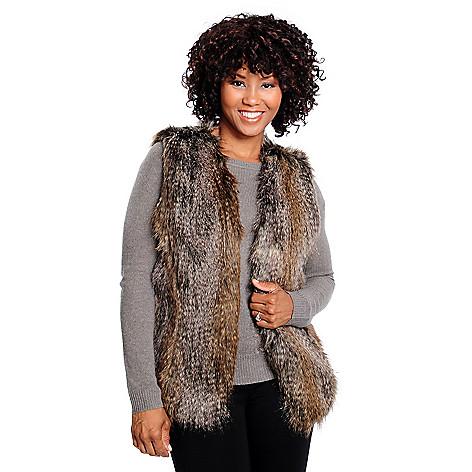 714-353 - Donna Salyers' Fabulous-Furs Faux Fur Open Front Fashionista Vest
