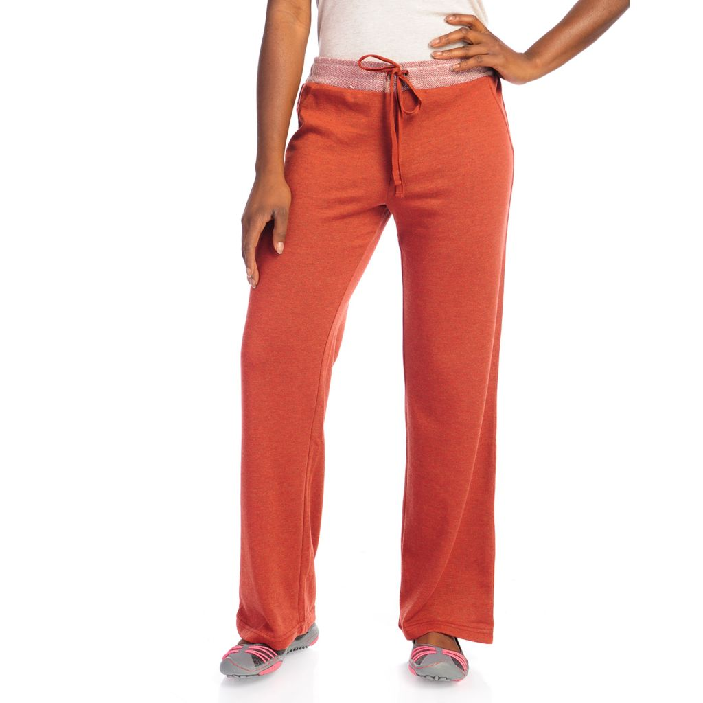 714-375 - One World French Terry Straight Leg Drawstring Pants