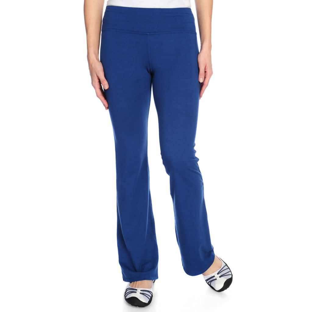 714-380 - One World Stretch Knit Wide Waistband Back Pocket Pull-on Pants