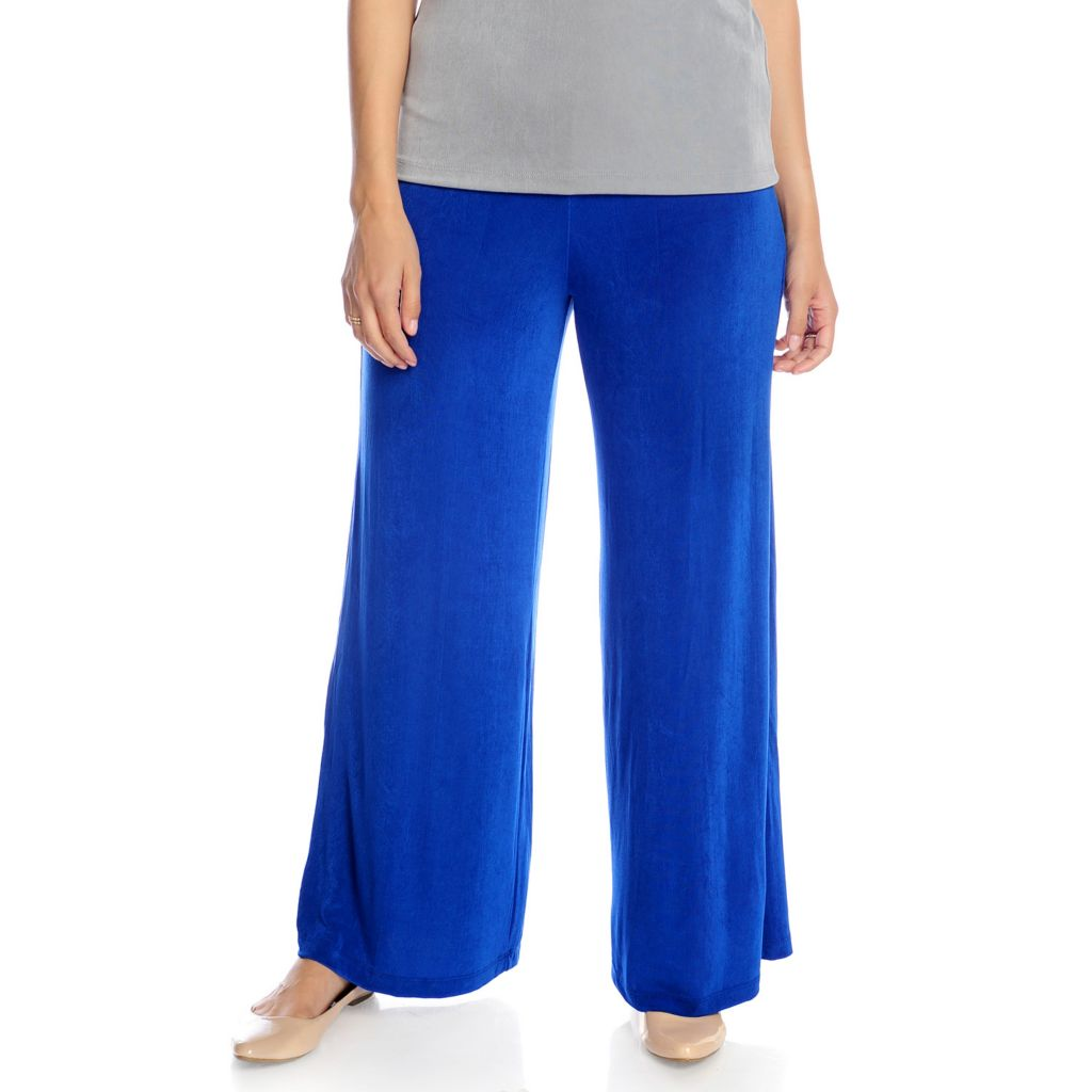 714-385 - Affinity for Knits™ Elastic Waist Mid-Rise Palazzo Pants