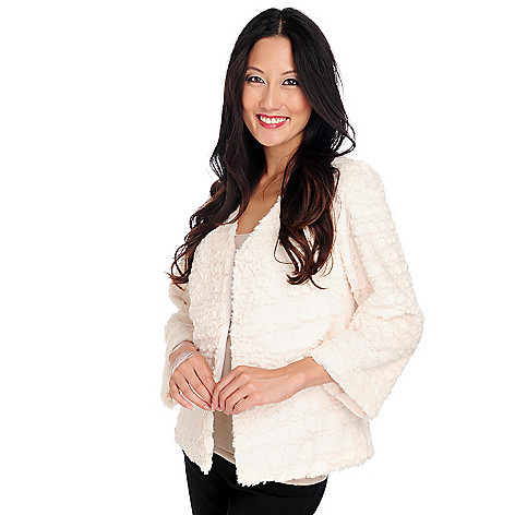 714-402 - Love, Carson by Carson Kressley Faux Fur Long Sleeved Lined Jacket
