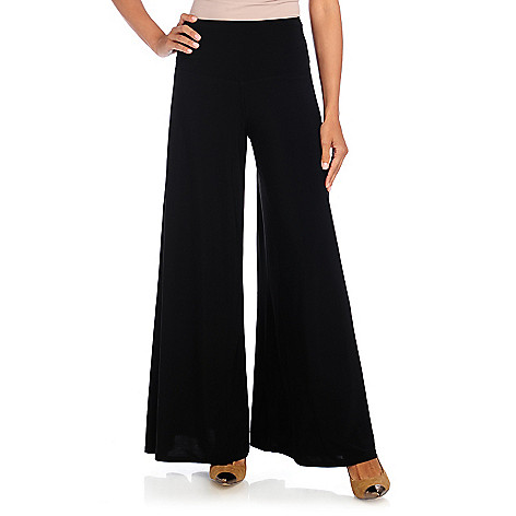 714-430 - aDRESSing WOMAN Stretch Knit Control Top Wide Leg Pull-on Pants