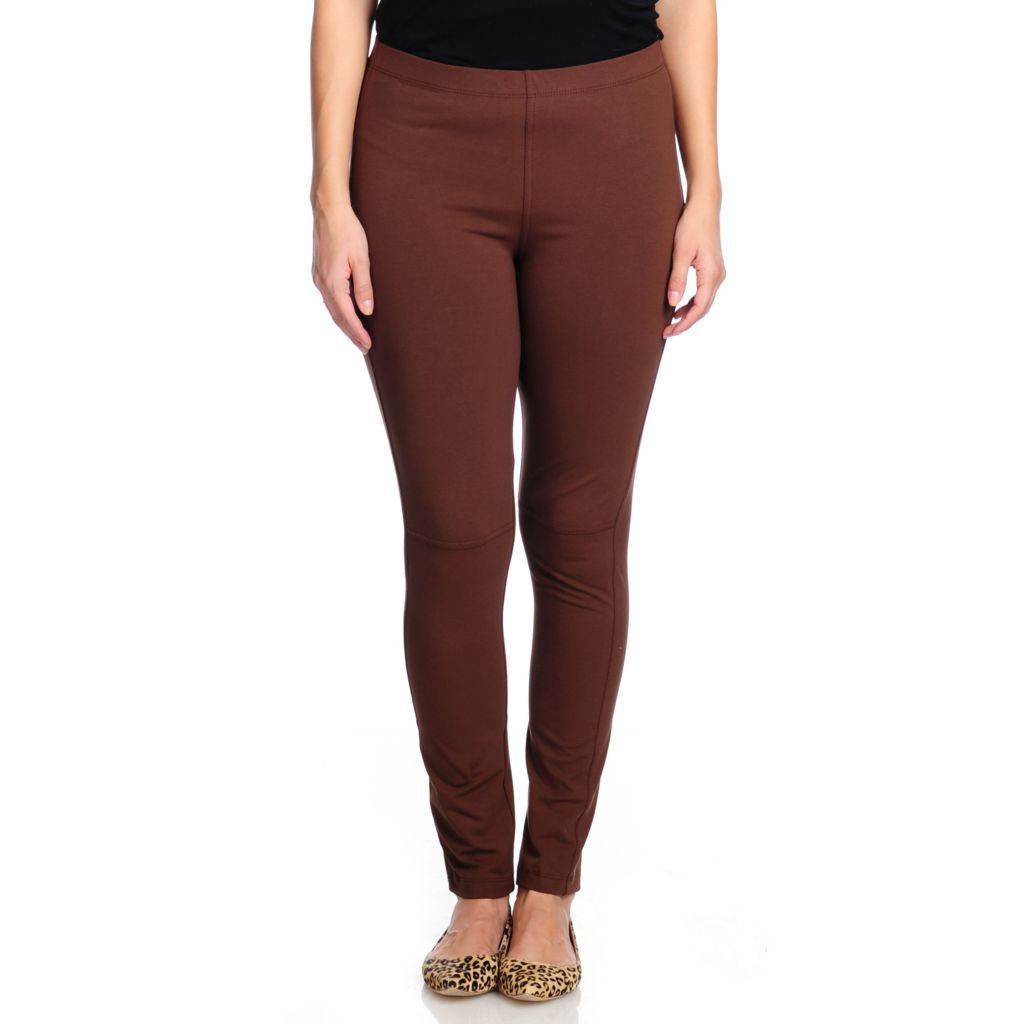 714-446 - Slimming Options™ for Kate & Mallory Stretch Knit Seam Detail Pull-on Leggings