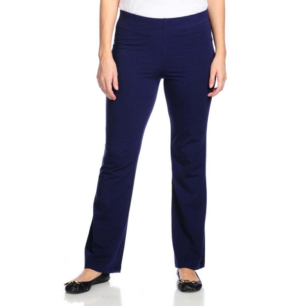 714-447 - Slimming Options™ for Kate & Mallory Stretch Knit Boot Cut Pull-on Pants