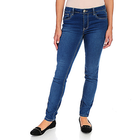 714-451 - Glitterscape® Stretch Denim Slim Leg Embellished Five-Pocket Pants