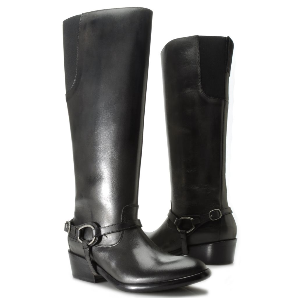 714-462 - Ariat® Leather Harness Strap Detailed Side Zip Tall Riding Boots