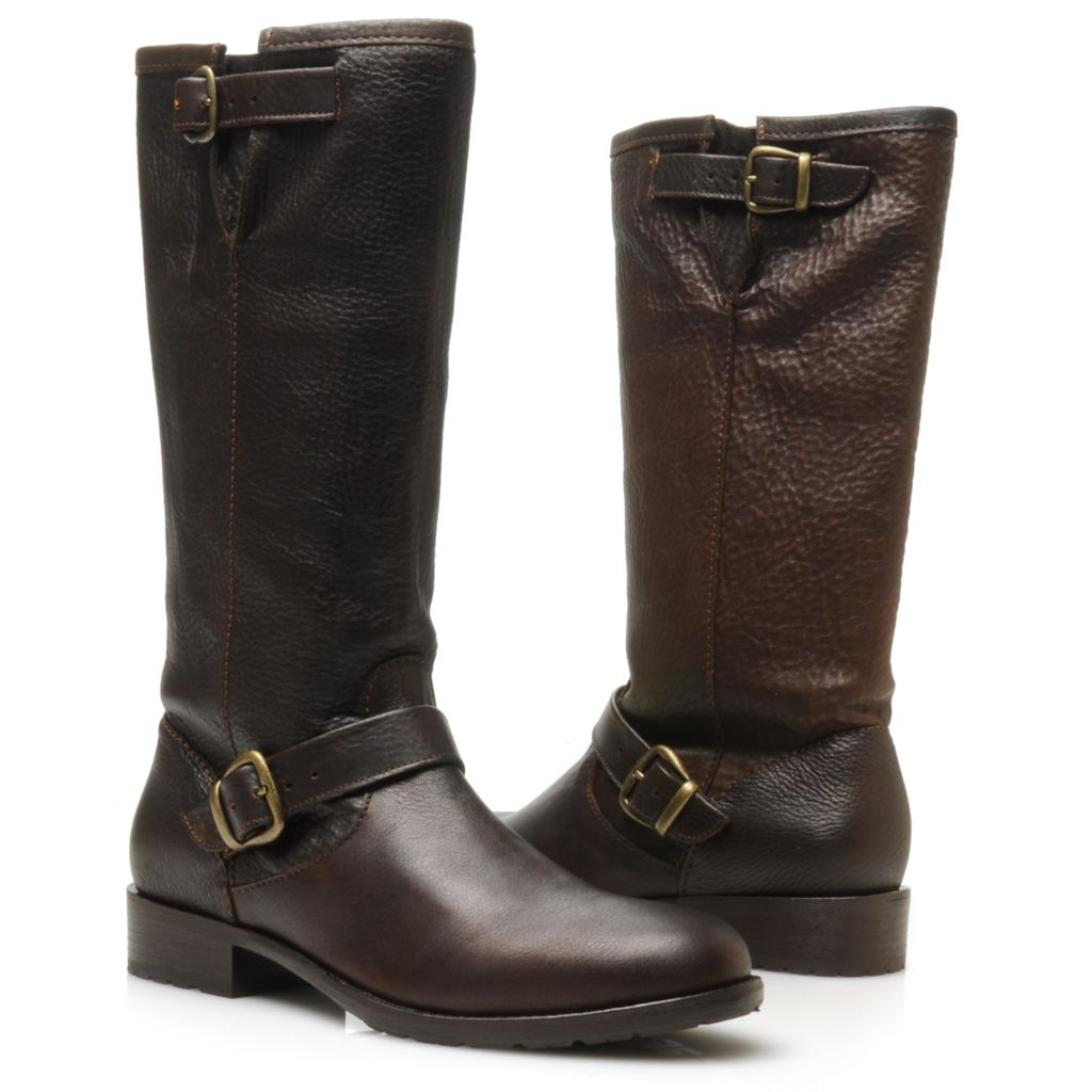714-463 - Ariat® Leather Buckle & Belt Detailed Relaxed Casual Boots