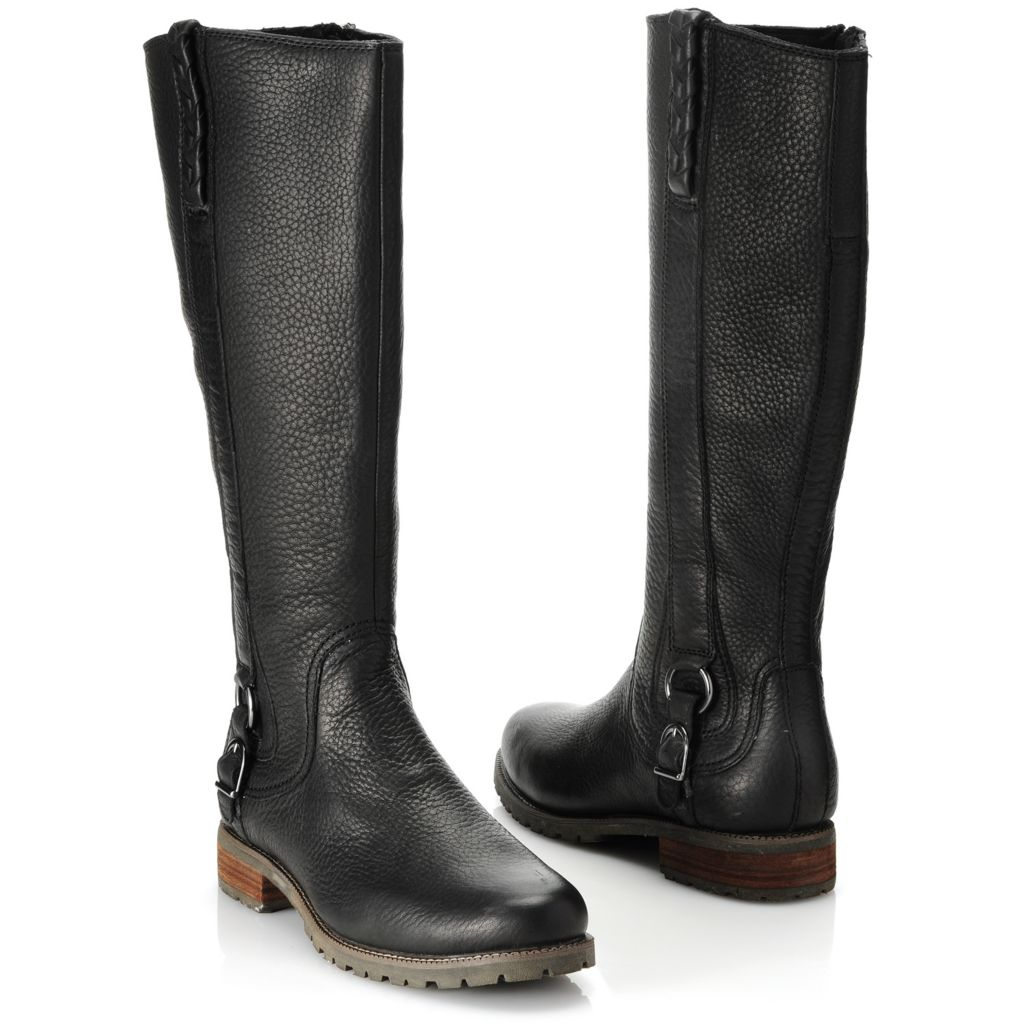 714-468 - Ariat® Leather Braid & Buckle Detailed Side Zip Tall Riding Boots