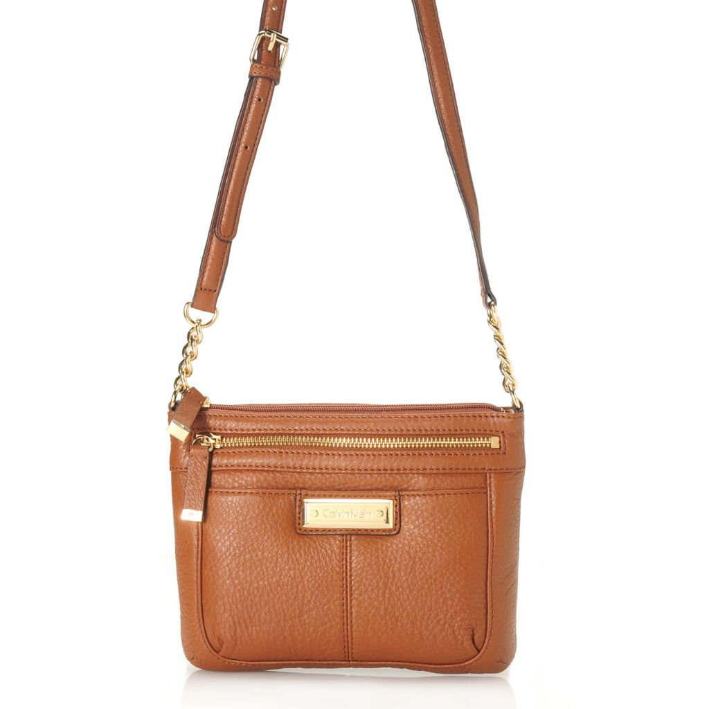 714-480 - Calvin Klein Handbags Pebbled Leather Zippered Cross Body