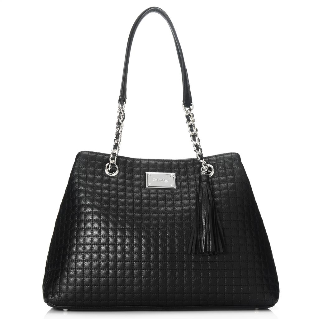 714-485 - Calvin Klein Handbags Quilted Leather Tote