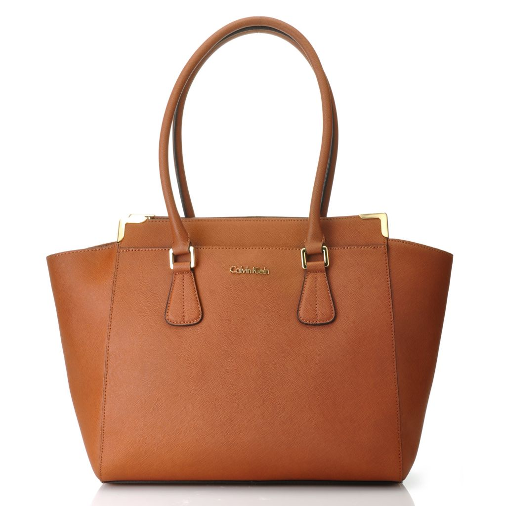 714-503 - Calvin Klein Handbags Saffiano Leather East-West Tote