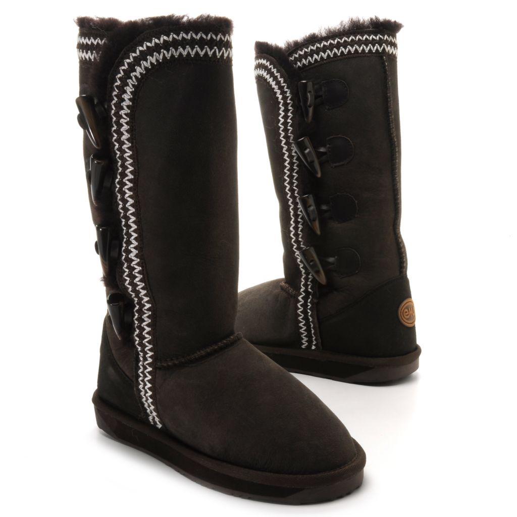 714-533 - EMU® Sheepskin Zigzag Stitched Tall Toggle Boots