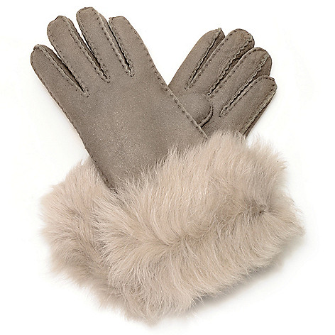 714-534 - EMU® Women's 100% Sheepskin Long Fur Cuffed Gloves