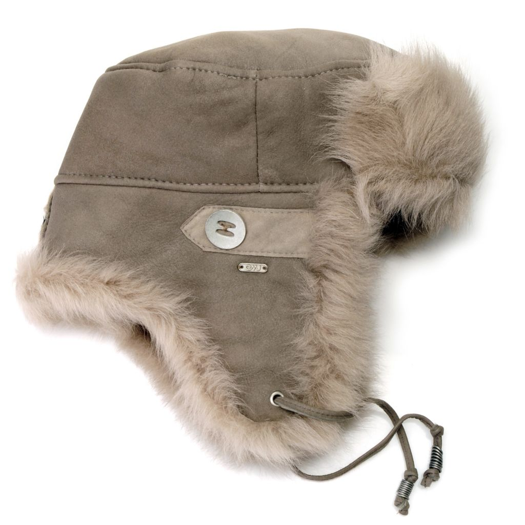714-535 - EMU® 100% Sheepskin Fur Trimmed Trapper Hat
