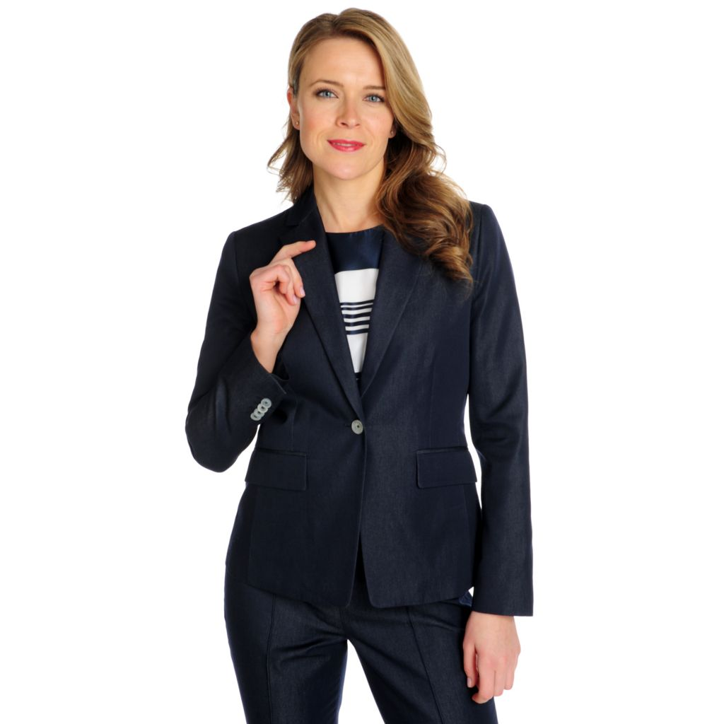 714-609 - Brooks Brothers® 100% Cotton Slim Fit One-Button Suit Jacket