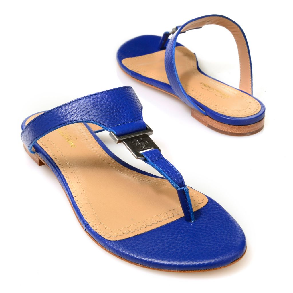 714-638 - Brooks Brothers® Tumbled Leather Thong Sandals